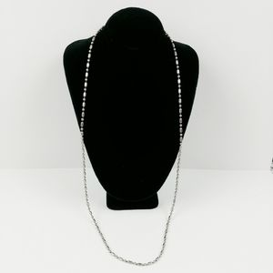 Silver metal ball chain necklace 23""